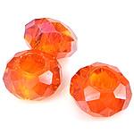 European Beads Crystal, Kristal, Rondelle, pa karrem, Zjarri Opal, 8-9x14-15mm, : 6mm, 100PC/Qese,  Qese