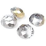 European Beads Crystal, Kristal, Rondelle, colorful kromuar, pa karrem, asnjë, 8-9x14-15mm, : 6mm, 100PC/Qese,  Qese