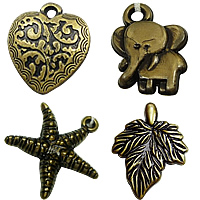 Antique Bronze Acrylic Pendants