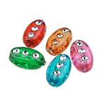 Silberdruck Acrylperlen, Acryl, oval, gemischte Farben, 6x10x5mm, Bohrung:ca. 1.5mm, 3400PCs/Tasche, verkauft von Tasche
