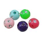 Silberdruck Acrylperlen, Acryl, rund, gemischte Farben, 8mm, Bohrung:ca. 1mm, 2200PCs/Tasche, verkauft von Tasche