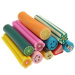 Ploymer Clay Canes, Polymer Clay, Kolonë, ngjyra të përziera, 50x10mm, 100PC/Qese,  Qese