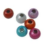 Beads akrilik Mrekulli, Round, ngjyra të përziera, 5mm, : 2mm, 7300PC/Qese,  Qese