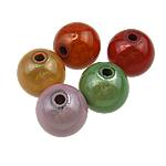 Beads akrilik Mrekulli, Round, ngjyra të përziera, 10mm, : 2mm, 900PC/Qese,  Qese