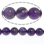 Beads kuarc bizhuteri, Ametist, 8mm, : 1mm, : 15.5Inç, 52PC/Fije floku,  15.5Inç,