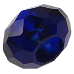 European Beads Crystal, Kristal, Rondelle, pa karrem, Dark Sapphire, 8-9x14-15mm, : 6mm, 100PC/Qese,  Qese