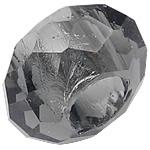 European Beads Crystal, Kristal, Rondelle, pa karrem, Greige, 8-9x14-15mm, : 6mm, 100PC/Qese,  Qese