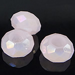 European Beads Crystal, Kristal, Rondelle, pa karrem, Vintage Rose, 8-9x14-15mm, : 6mm, 100PC/Qese,  Qese