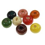 Beads druri, Rondelle, i lyer, ngjyra të përziera, 4x5mm, : 1.5mm, 25000PC/Qese,  Qese