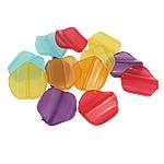 Beads transparente akrilik, Shape Tjera, i tejdukshëm, ngjyra të përziera, 24x26x6mm, : 2mm, 340PC/Qese,  Qese