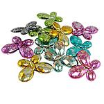 Beads akrilik të përziera, Kafshë, ngjyra të përziera, 29.50x23x5mm, : 1.5mm, 300PC/Qese,  Qese