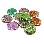 Beads akrilik të përziera, Round Flat, ngjyra të përziera, 25x6.50mm, : 2mm, 210PC/Qese,  Qese