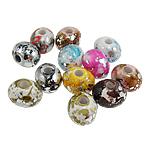 Beads akrilik të përziera, Oval, ngjyra të përziera, 18.50x15.50x14mm, : 4.5mm, 215PC/Qese,  Qese