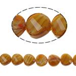 Millefiori Perlen, Kristall, Twist, Topas, 14x7mm, Bohrung:ca. 2mm, 25PCs/Strang, verkauft per 13.7 ZollInch Strang