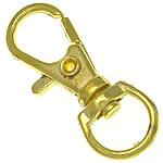 Alloy zink kapje karavidhe kthyeshëm, ngjyrë ari praruar, asnjë, , nikel çojë \x26amp; kadmium falas, 11x31.50x4.70mm, : 8.5x5.8mm, 500PC/Qese,  Qese