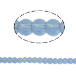 Runde Kristallperlen, Kristall, heller Saphir, 4mm, Bohrung:ca. 1mm, Länge:11 ZollInch, 10SträngeStrang/Tasche, 80PCs/Strang, verkauft von Tasche