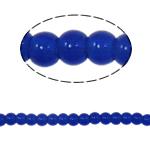 Beads Round Crystal, Kristal, Dark Sapphire, 4mm, : 1mm, :10.5Inç, 10Fillesat/Qese,  Qese