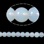 Beads Round Crystal, Kristal, White Opal, 8mm, : 1.5mm, :12Inç, 10Fillesat/Qese,  Qese