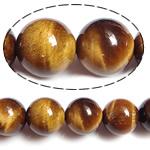 Syri Tiger Beads, Round, natyror, 10mm, : 1.5mm, : 15.5Inç, 5Fillesat/Shumë,  Shumë