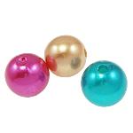 Beads plastike, ABS plastike, Round, asnjë, ngjyra të përziera, 12mm, : 2mm, 560PC/Qese,  Qese