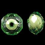 Bead në Beads akrilik Bead, Numërator, bead bead në, ngjyra të përziera, 12x8.50mm, : 2mm, 700PC/Qese,  Qese