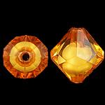Bead në Beads akrilik Bead, Bicone, bead bead në, ngjyra të përziera, 13x14mm, : 2mm, 450PC/Qese,  Qese