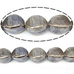 Beads pearlized Porcelani, Oval, i praruar, bojë kafe, 20x14mm, : 2.5mm, 100PC/Qese,  Qese