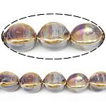 Beads pearlized Porcelani, Oval, i praruar, 20x14mm, : 2.5mm, 100PC/Qese,  Qese