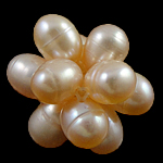 Cluster Ball Beads kulturuar Pearl, Pearl kulturuar ujërave të ëmbla, Round, 18mm, 10PC/Qese,  Qese