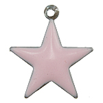 Enamel Iron Pendants, Star, various colors for choice, 13x14.5x1mm, Hole:Approx 1MM, 3000PCs/Bag, Sold by Bag