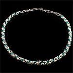 Ujërave të ëmbla Pearl gjerdan Crystal, Kristal, 4-5mm, :22Inç,  22Inç,