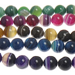 Beads Natyrore agat Lace, dantella agat, Round, 10mm, : 1.5mm, : 15Inç, 5Fillesat/Shumë,  Shumë