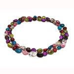 Natyrore ujërave të ëmbla Pearl gjerdan, Pearl kulturuar ujërave të ëmbla, ngjyra të përziera, 10-11mm, :32Inç,  32Inç,