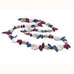 Natyrore ujërave të ëmbla Pearl gjerdan, Pearl kulturuar ujërave të ëmbla, ngjyra të përziera, 20mm, :36Inç,  36Inç,