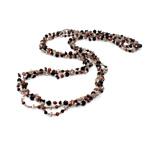 Ujërave të ëmbla Pearl gjerdan Crystal, Pearl kulturuar ujërave të ëmbla, with Kristal & Seed Glass Beads, natyror, 3-4mm, :31Inç,  31Inç,