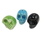 Beads bizhuteri Porcelani, Kafkë, shtypje, ngjyra të përziera, 15x19x5mm, : 2mm, 100PC/Qese,  Qese