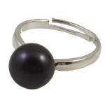 Ujërave të ëmbla Pearl Ring Finger, Pearl kulturuar ujërave të ëmbla, e zezë, 10-11mm, : 18mm, :7.5, 10PC/Qese,  Qese