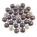 Pearl ujërave të ëmbla karficë, Pearl kulturuar ujërave të ëmbla, Lule, e zezë, 7-8mm, 49x7mm,  PC