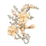Pearl ujërave të ëmbla karficë, Pearl kulturuar ujërave të ëmbla, Lule, rozë, 57x67x11mm,  PC