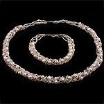 Natyrore kulturuar Pearl ujërave të ëmbla bizhuteri Sets, Pearl kulturuar ujërave të ëmbla, Round, natyror, rozë, 4-5mm, :17Inç,  7.5Inç,  I vendosur