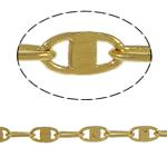 Tunxh Zinxhiri Valentino, ngjyrë ari praruar, asnjë, , nikel çojë \x26amp; kadmium falas, 3x6x0.50mm, 100m/PC,  PC