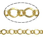 Zinxhiri Iron Rhombus, Hekur, Romb, ngjyrë ari praruar, asnjë, , nikel çojë \x26amp; kadmium falas, 6x8x1mm, 50m/Shumë,  Shumë