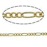 Tunxh Zinxhiri Figaro, ngjyrë ari praruar, asnjë, , nikel çojë \x26amp; kadmium falas, 2.50x6x0.53mm, 100m/Shumë,  Shumë