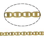 Tunxh Zinxhiri Valentino, ngjyrë ari praruar, asnjë, , nikel çojë \x26amp; kadmium falas, 3x6x1mm, 100m/PC,  PC