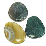 Agat pendants bizhuteri, Agat përziera, i përzier, 44-50mm, : 2.5mm, 30PC/Qese,  Qese