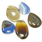 Agat pendants bizhuteri, Agat përziera, i përzier, 44-60mm, : 3mm, 30PC/Qese,  Qese