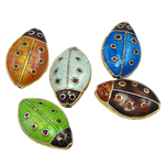 Beads Smooth Cloisonne, Kafshë, 11.50x18x6mm, : 1.5mm, 20PC/Qese,  Qese