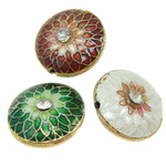 Beads Smooth Cloisonne, Round Flat, 16.50x8.50mm, : 1mm, 20PC/Qese,  Qese