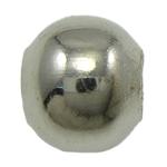 Beads bizhuteri Hekuri, Round, ngjyrë platin praruar, asnjë, , nikel çojë \x26amp; kadmium falas, 6mm, : 2mm, 10000PC/Qese,  Qese