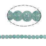 Glass Beads kërcitje, Xham, Round, asnjë, e gjelbër, 8mm, : 2mm, :31Inç, 105PC/Fije floku,  31Inç,
